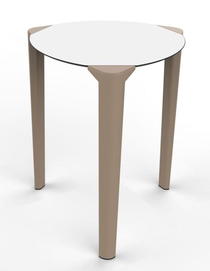 Tavoli In Plastica Impilabili.Tavolo Rotondo Impilabile Per Ristoranti Idfdesign