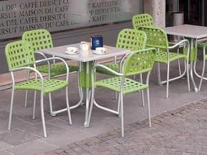 Immagine di Polo 70x70 Werzalit, tavolo durevole