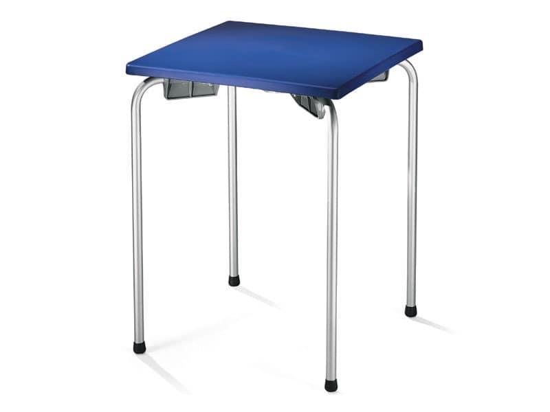 Tavolo 60x60 cod. 20/I, Tavolino da esterno per bar, ristorante, gelateria