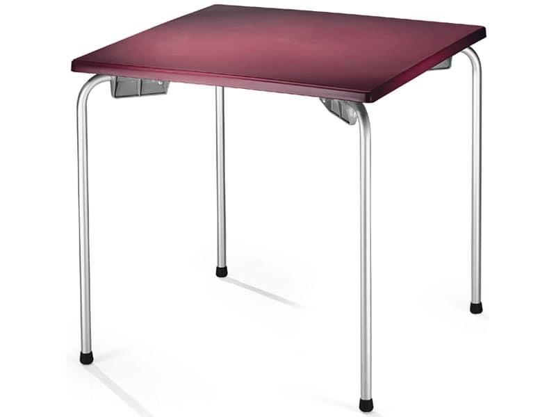 Tavolino impilabile con piano quadrato per esterni for Tavolo esterno 80x80