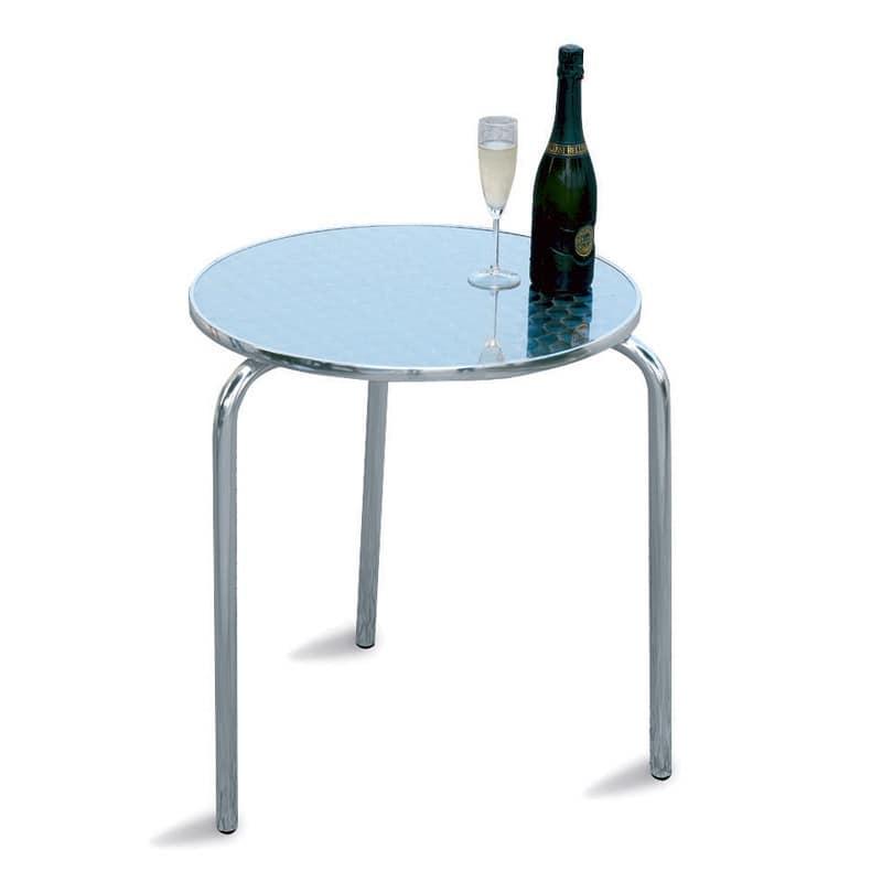 Tavolo rotondo in alluminio e acciaio per giardino for Tavolo rotondo barocco