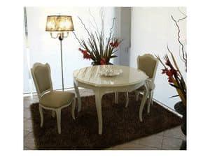 3520 TAVOLO, Tavolo classico contemporaneo, laccato lucido