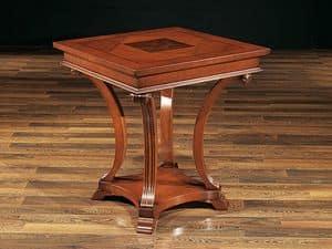 ALFRED tavolo 8451T, Tavolo in faggio con gambe intarsiate, stile classico