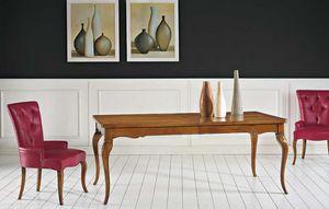 Art. 67, Tavolo classico in legno, con due allunghe