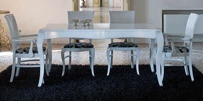 DUNA tavolo 8340T, Tavolo allungabile in legno massello