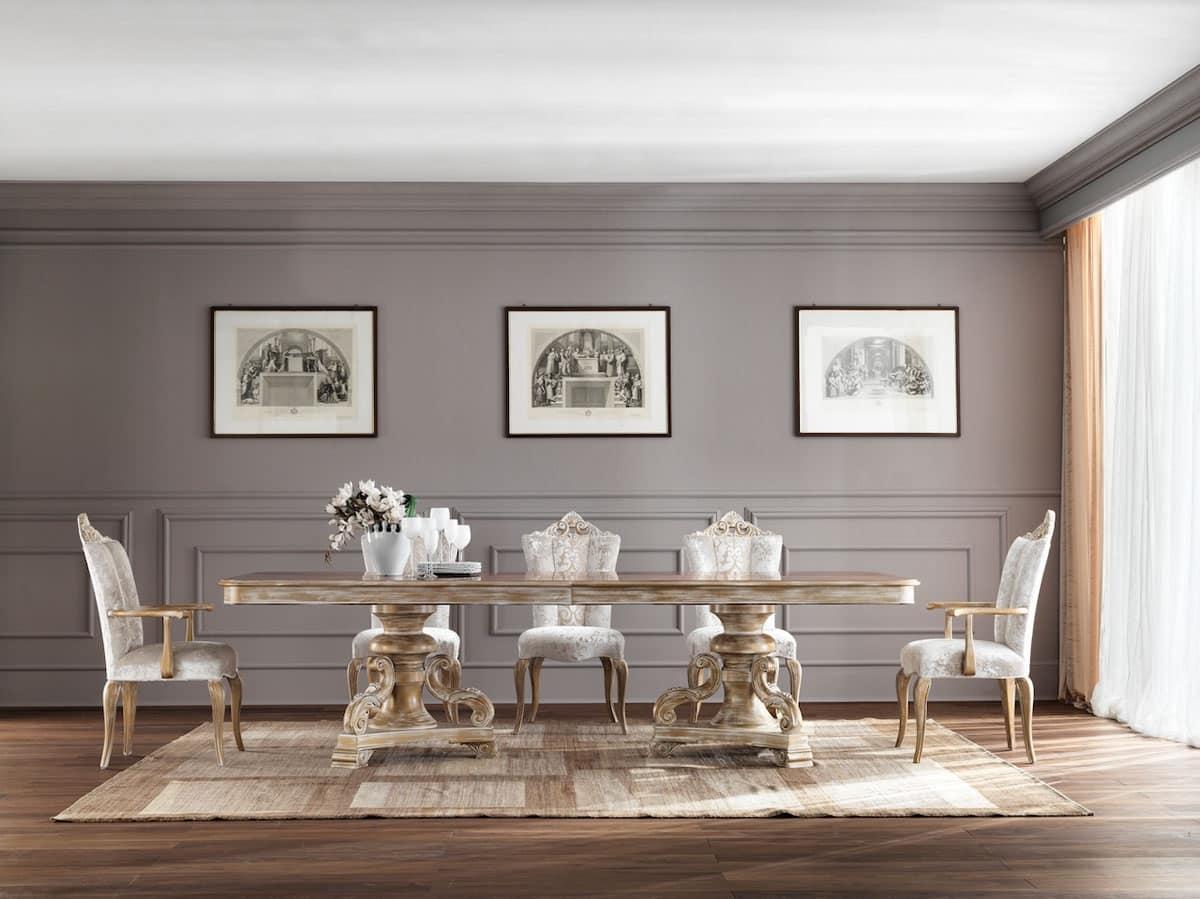 HOME P08 Classico Prodotti Tavoli Tavoli Classici Ed In Stile In Stile  #8C5C3F 1200 899 Sedie Sala Da Pranzo Legno