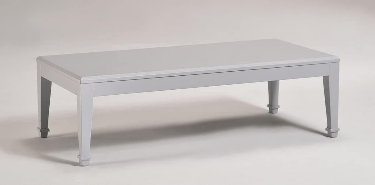 LUNA tavolino 8239T, Tavolino rettangolare in legno, stile classico