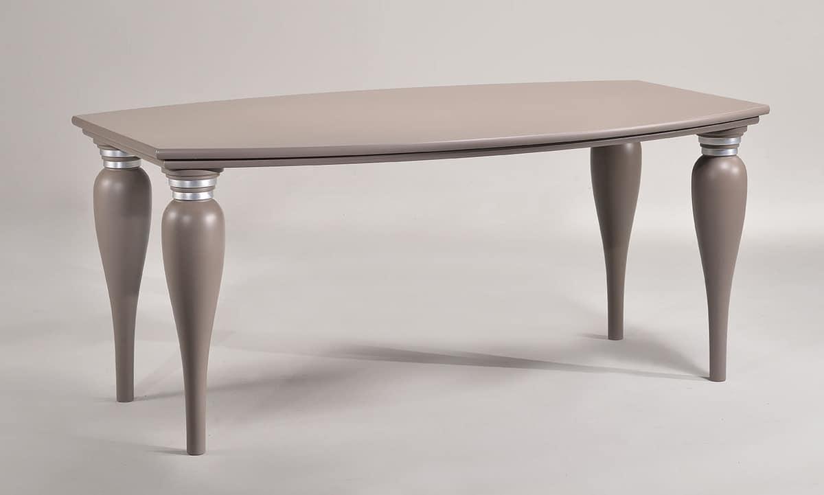 MARILYN tavolo 8301T, Tavolo tradizionale, bordi arrotondati, per alberghi