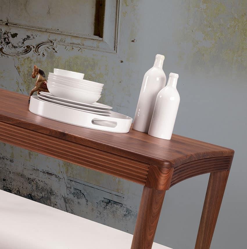Tavolo in legno per la sala da pranzo e la cucina idfdesign for Tavolo cucina design