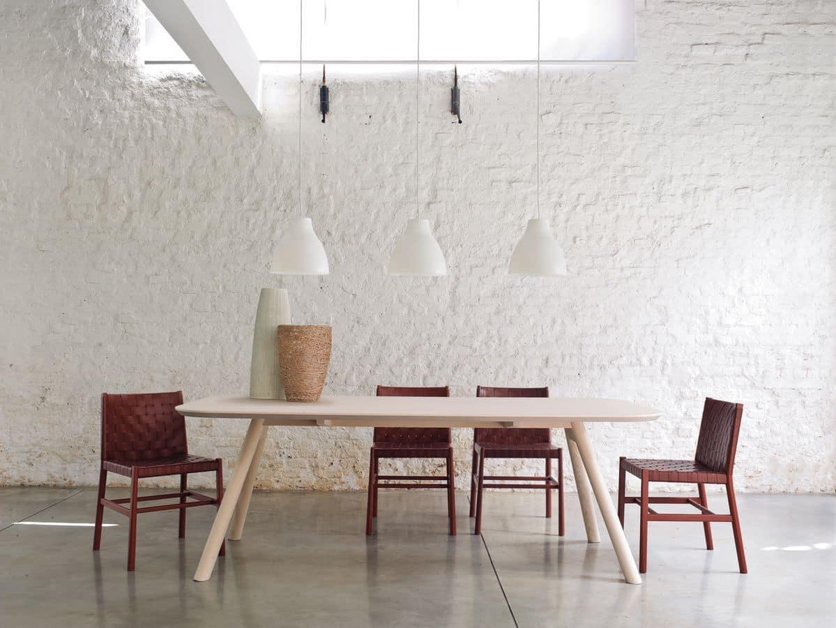 Tavolo da pranzo in legno di frassino disponibile in varie - Tavolo da pranzo misure ...