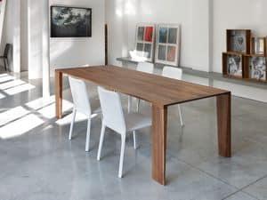 ART. 260/F ZEN, Tavolo fisso, in legno massello,  per cucina moderna