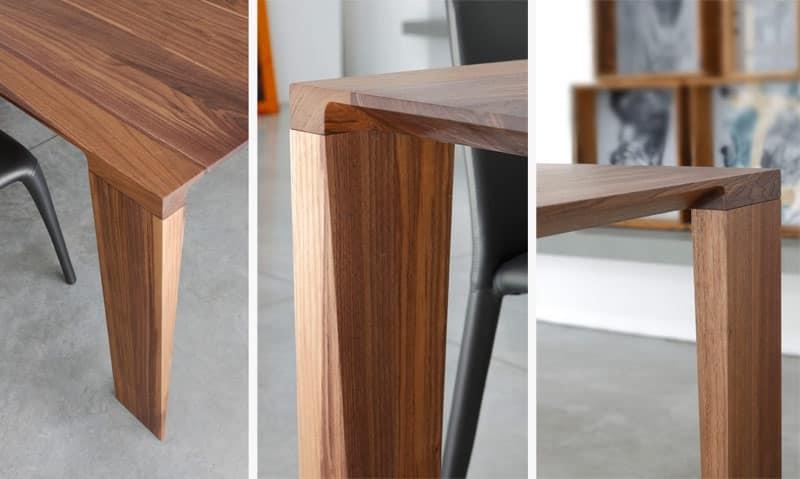 Tavolo fisso, in legno massello, per cucina moderna  IDFdesign