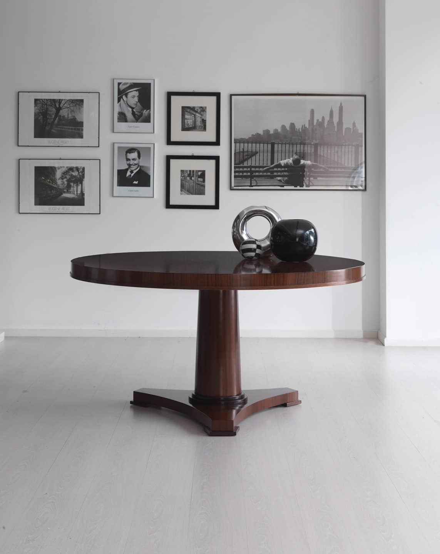 Tavolo rotondo in legno in stile contemporaneo idfdesign for Tavoli contemporaneo design