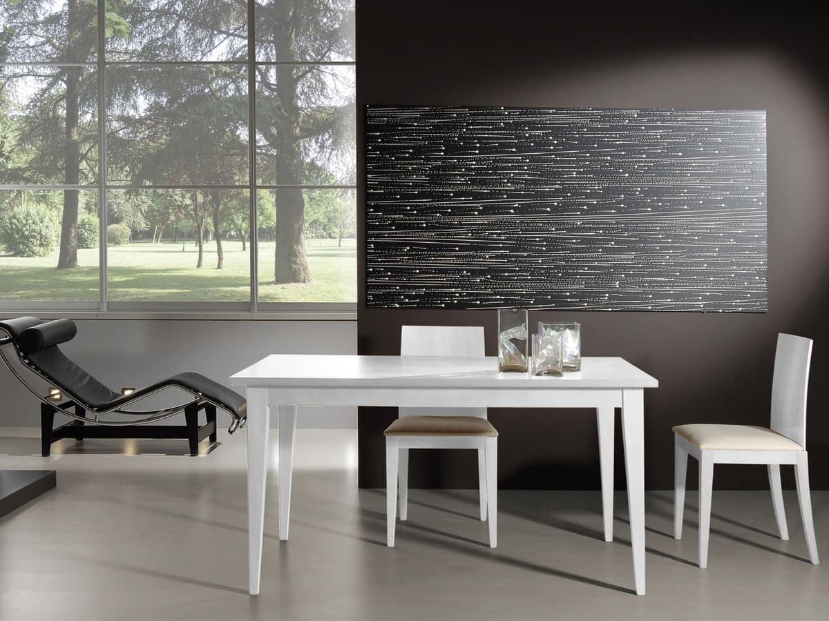 Tavolo allungabile in legno perfetto per salotti moderni - Tavoli in legno moderni ...
