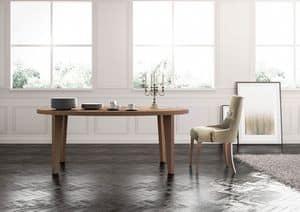 Cortina, Tavolo da pranzo lineare, su misura, per Salotto classico