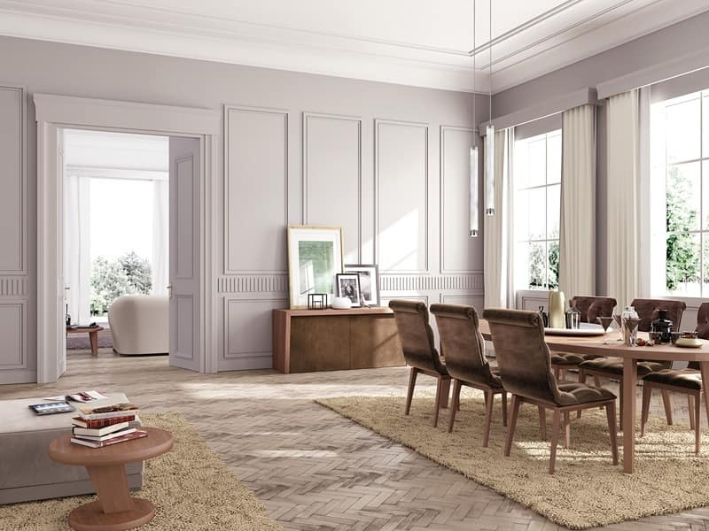 Tavolo da pranzo lineare su misura per salotto classico for Tavoli contemporaneo design