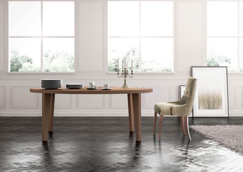 Tavolo da pranzo lineare su misura per salotto classico for Tavolo da pranzo classico