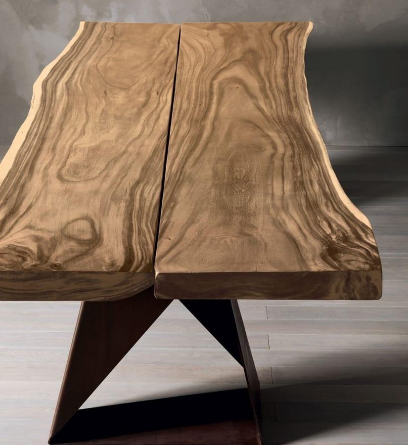 Dasar, Tavolo in legno massiccio di rovere o suar