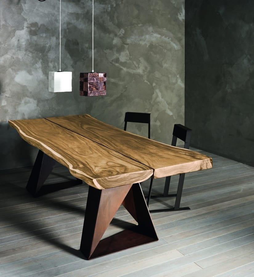 Tavolo in legno massiccio di rovere o suar idfdesign for Tavoli da pranzo in legno