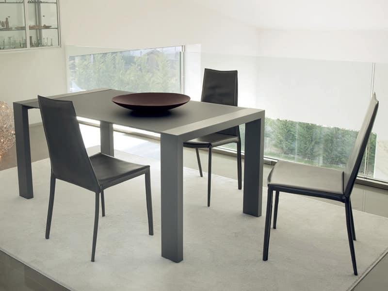 Fashion 160 prezzo tavoli design lineare sala da pranzo for Tavoli sala da pranzo in legno