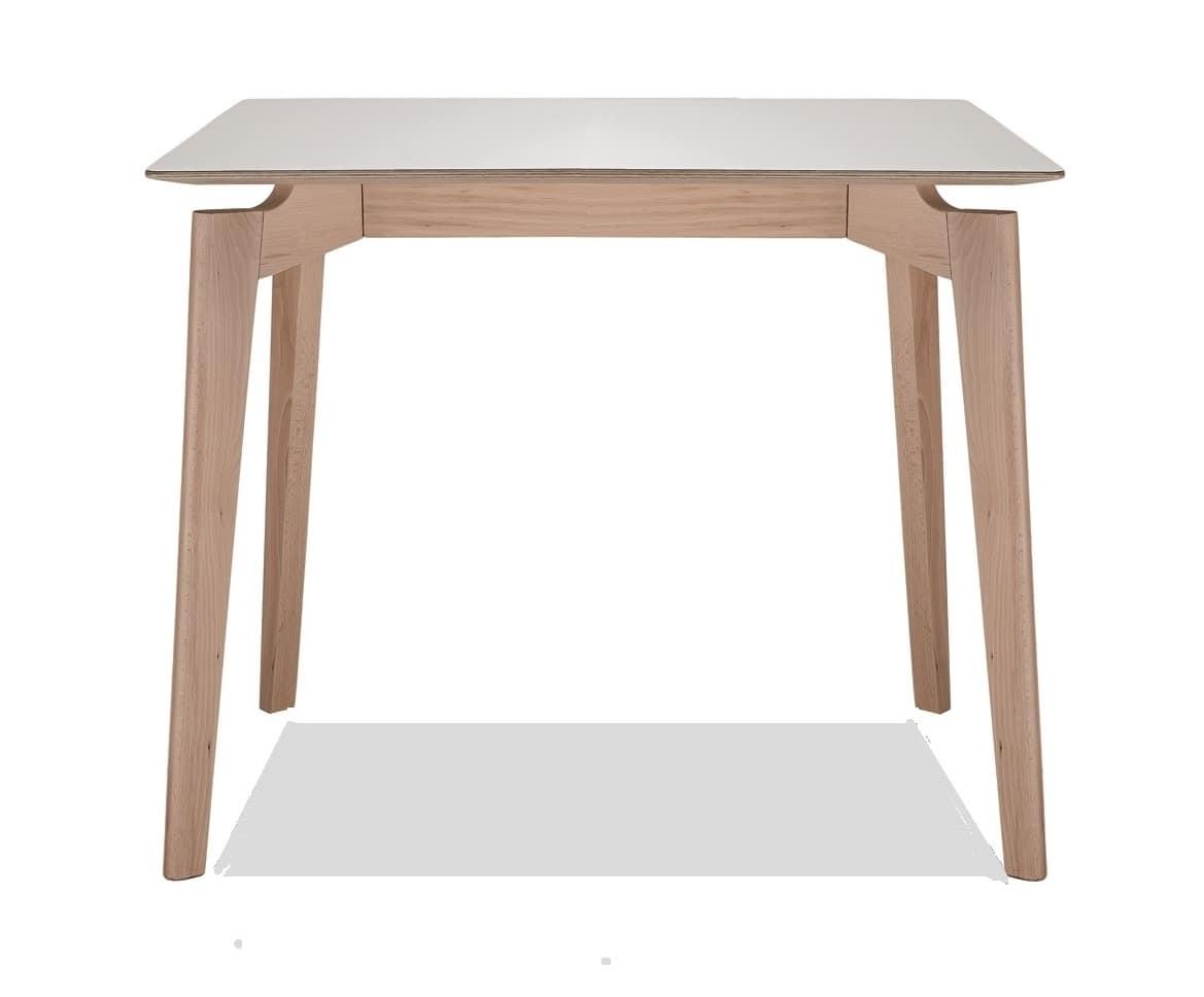 HOME P10 Moderno Prodotti Tavoli Tavoli Moderni Legno Squadrati #694F3D 1169 968 Tavolo Sala Da Pranzo Quadrato