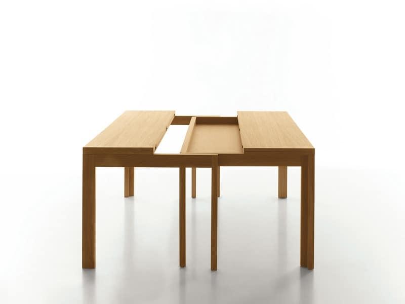 Tavolo legno con prolunga hotel idfdesign for Prolunga tavolo