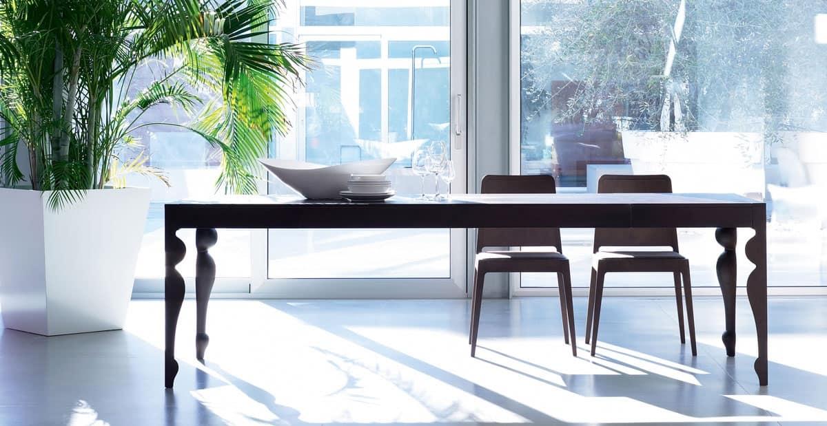 Tavolo allungabile tavolo in lengo tavolo sala da pranzo soggiorno idfdesign - Tavolo sala da pranzo ...