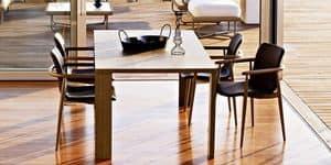 Jodan tavolo, Tavolo moderno, in multistrati impiallacciato, per soggiorno
