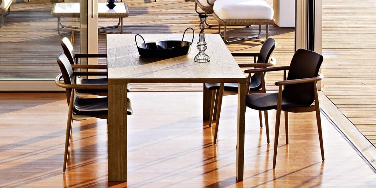 Tavolo moderno in multistrati impiallacciato per for Tavoli legno design moderno