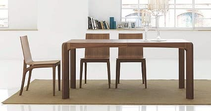 Tavolo da pranzo in legno, con bordi smussati | IDFdesign