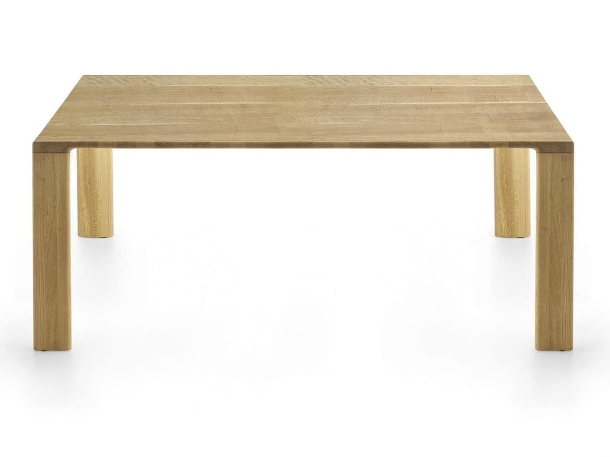 Madera, Tavolo completamente in legno massello per sala riunioni