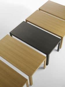 Nara 200, Tavolo rettangolare in legno massello