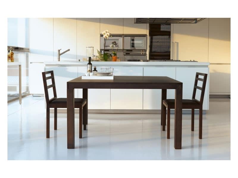 Tavolo rettangolare in legno allungabile idfdesign - Tavoli da sala allungabili ...
