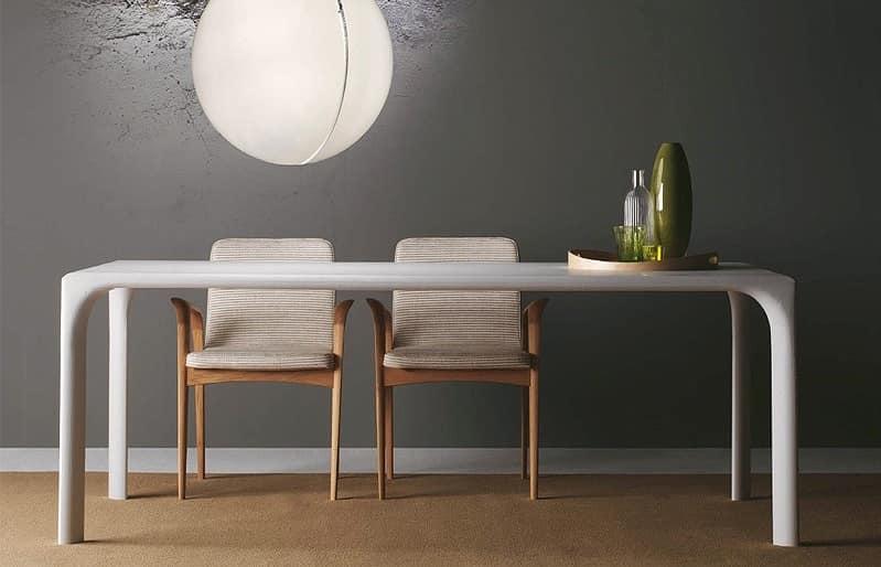 Tavolo completamente in rovere per cucina moderna idfdesign - Tavoli per cucina in legno ...