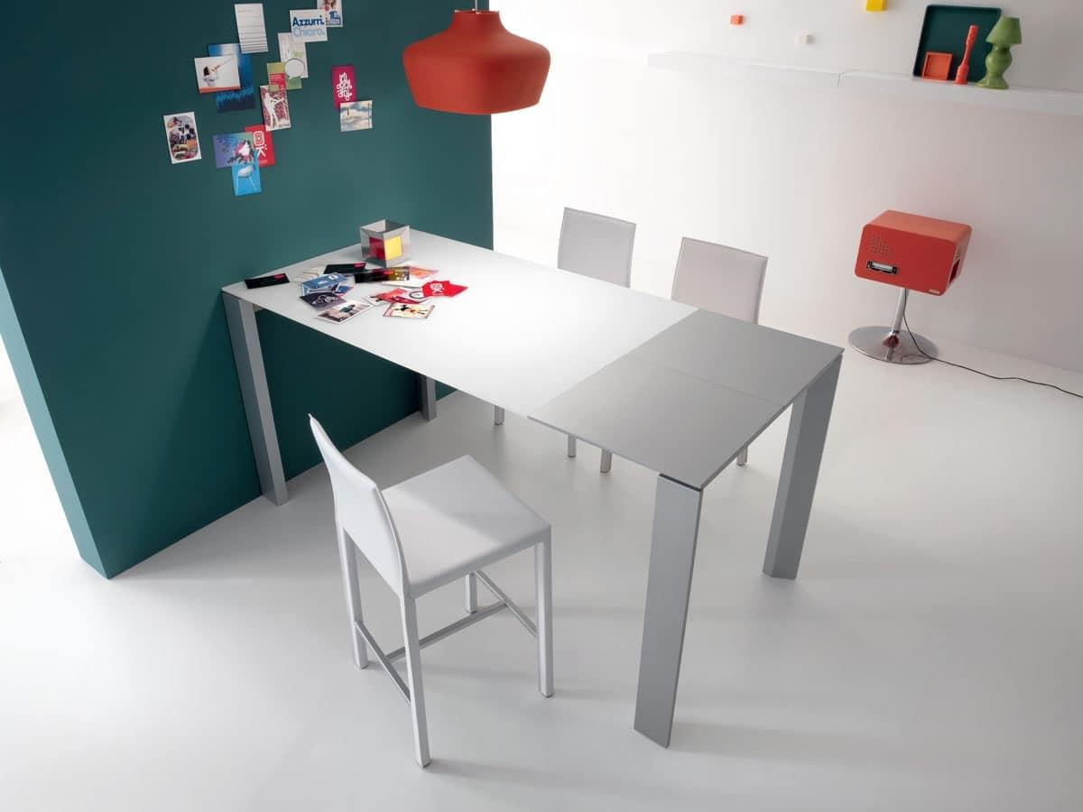 Tavolo lineare tavolo alto tavolo per sgabelli tavoli for Tavoli soggiorno in legno