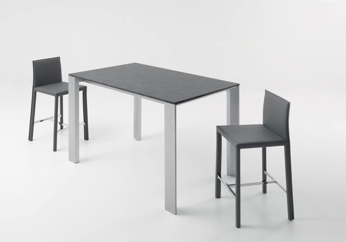 Tavolo lineare tavolo alto tavolo per sgabelli tavoli for Imitazione poltrone design
