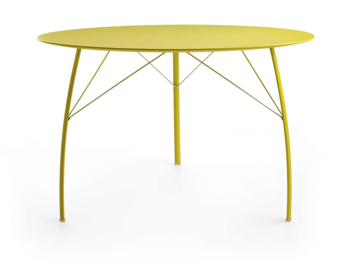 Tavolo da pranzo con piano rotondo idfdesign for Amazon tavoli da pranzo