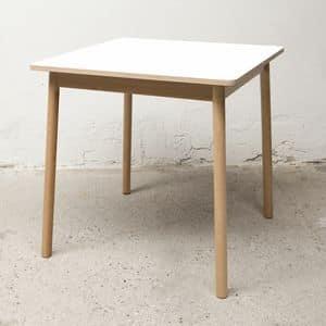 Tavolo Bolz, Tavolo quadrato, idrorepellente e antimuffa