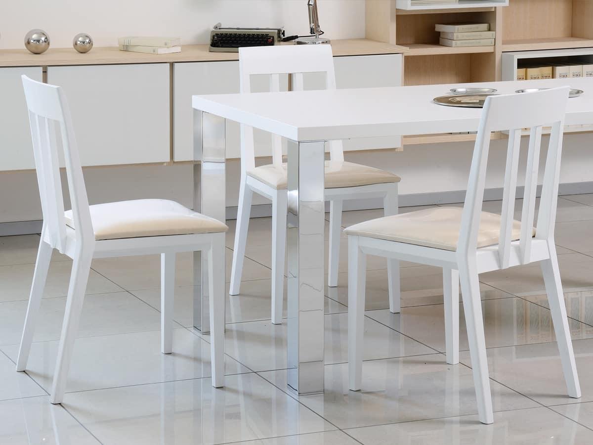 Tavoli E Consolle 15 Tavolo Semplice In Legno E Metallo Per  #674828 1200 900 Tavoli E Sedie Per Sala Da Pranzo