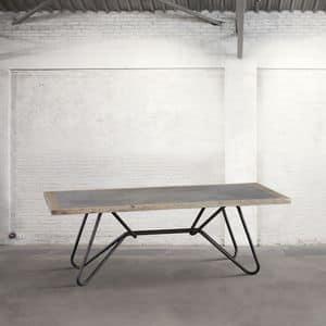 Immagine di DB003769, tavolo-con-piano-essenza