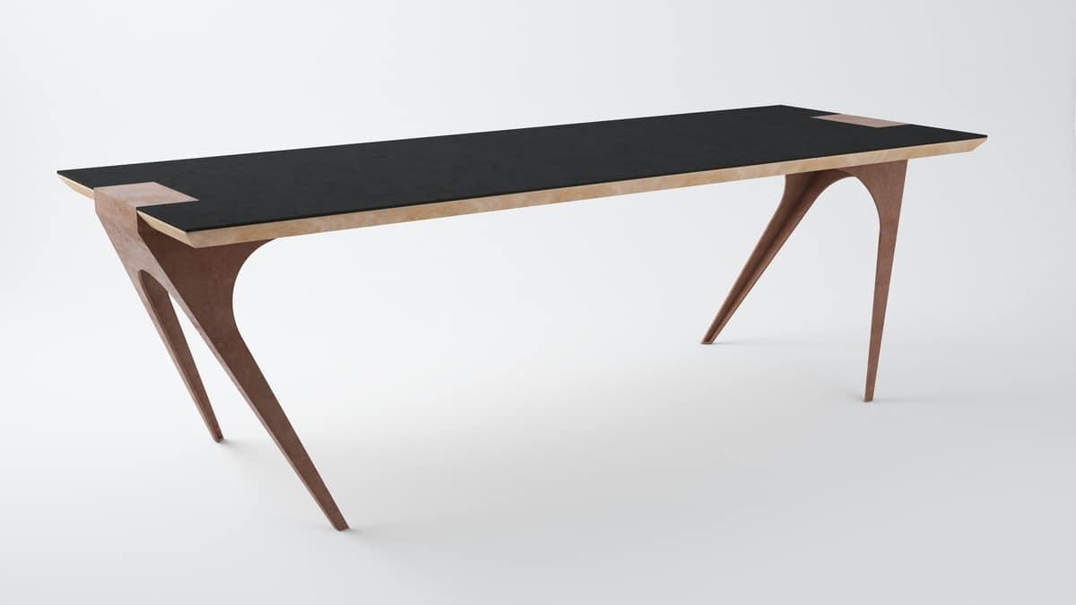 Tavolo di design con piano in legno | IDFdesign