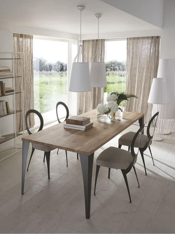 Tavoli piano legno Soggiorno - Malaga tavolo by Cantori Spa