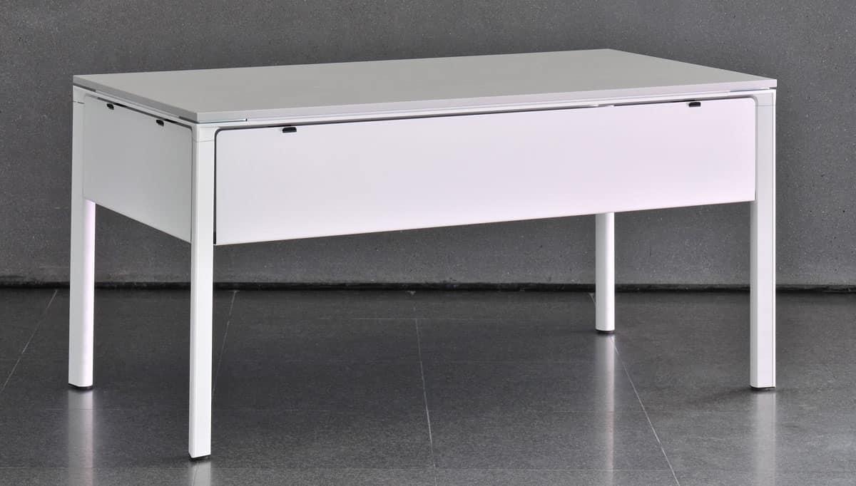 Meet - U, Tavolo componibile con struttura in alluminio