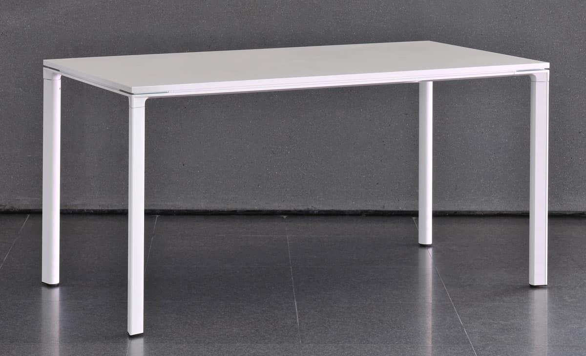 Tavolo componibile con struttura in alluminio idfdesign for Tavolo in alluminio