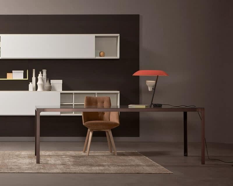 Tavolo quadrato struttura metallica piano in legno idfdesign - Tavolo quadrato legno ...