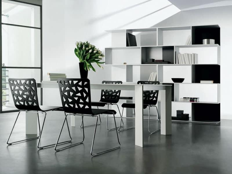 Tavolo dal design lineare sala da pranzo idfdesign - Tavoli pranzo design outlet ...