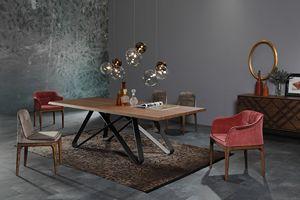 STATUS, Elegante tavolo da pranzo dal design geometrico