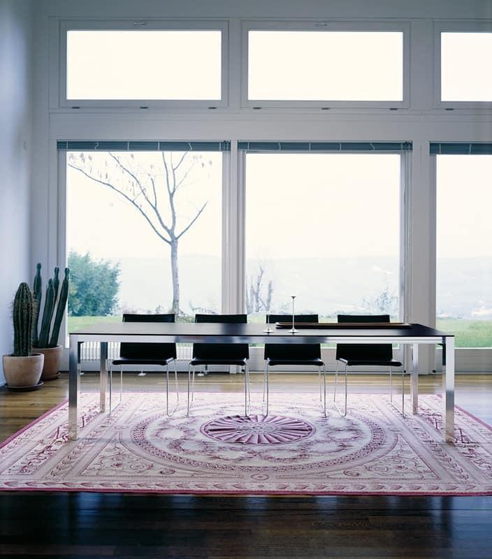 Tavoli tavoli design moderno metallo legno idf for Tavolo 70x110 allungabile