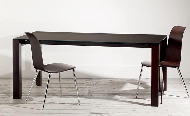 Tavoli Tavoli Design Moderno legno vetro IDF