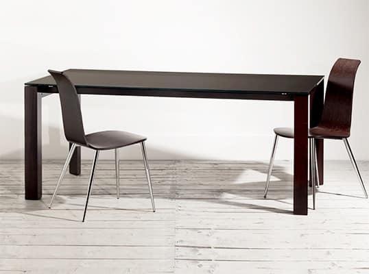 Tavoli tavoli design moderno legno vetro idf for Tavoli eleganti